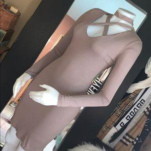 Hyfve strapply front chest pencil stretch  dress s